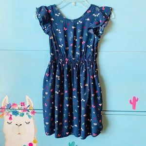 Spring Navy Bird Dress Size 5